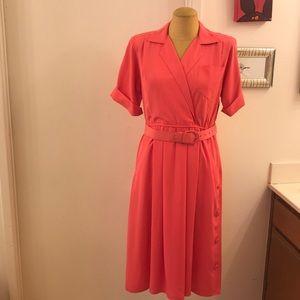 💥Leslie Fay Dresses Petite💥 Pink Vintage Dress